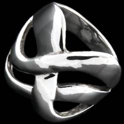 Silver ring, intertwined design