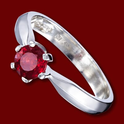 Gold ring, ruby, engagement